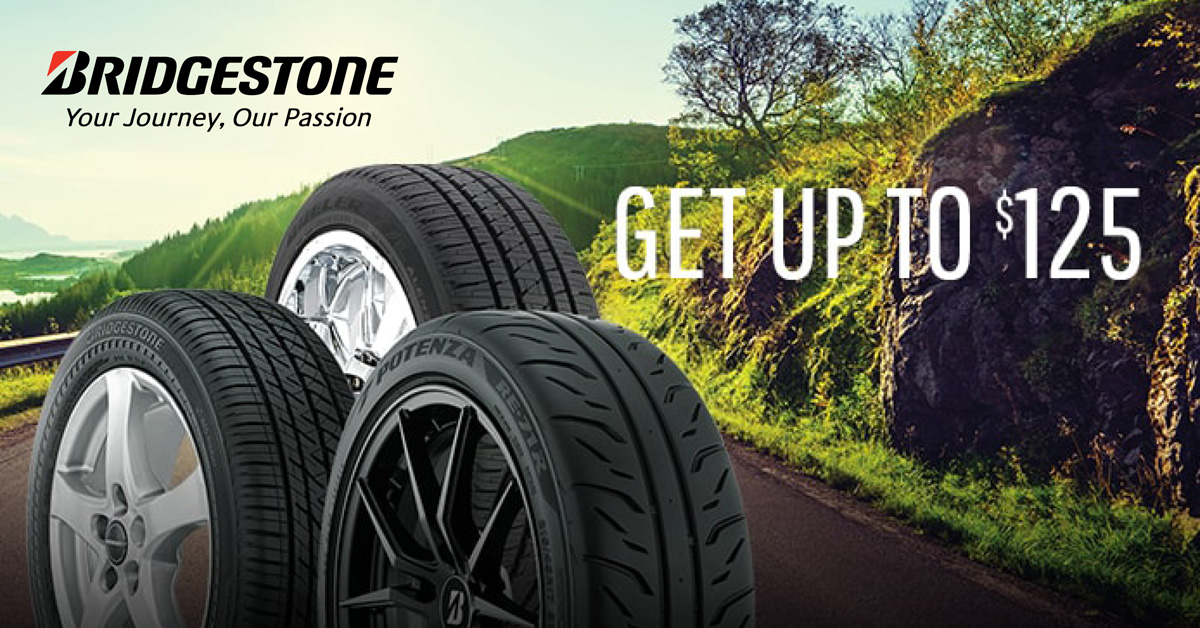Up to $125 Bridgestone Rebate!