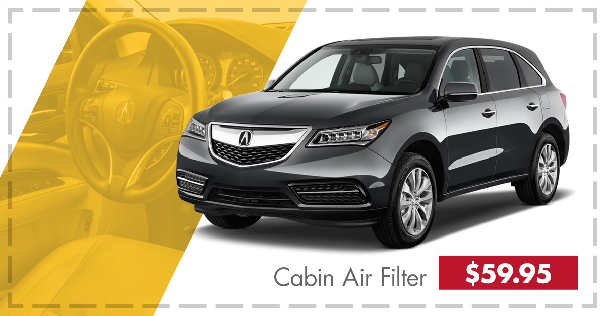 $30 OFF MDX Cabin Air Filter